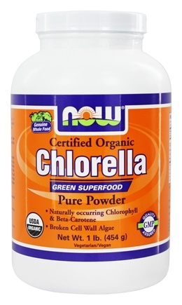 NOW Foods - Chlorella Pure Powder Certified Organic - 1 lb.