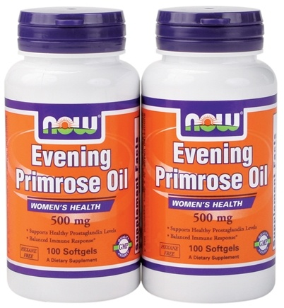 DROPPED: NOW Foods - Evening Primrose Oil (100+100) Twin Pack Special 500 mg. - 200 Softgels