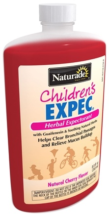 DROPPED: Naturade - Expec Children's Herbal Expectorant Alcohol Free with Guaifenesin Natural Cherry Flavor - 8.8 oz.