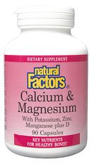 DROPPED: Natural Factors - Calcium & Magnesium Citrate (125 Mg/125 Mg) Plus D - 90 Capsules