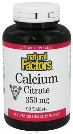 DROPPED: Natural Factors - Calcium Citrate 350 mg. - 90 Tablets CLEARANCE PRICED