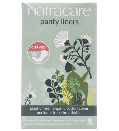 Natracare - Organic Cotton Natural Panty Liners Curved - 30 Liner(s)