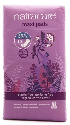 Zoom View - Natural Feminine Maxi Pads Night Time Long