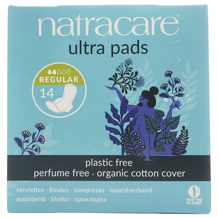 Natracare - Organic Cotton Natural Feminine Ultra Pads Regular with Wings - 14 Pad(s)