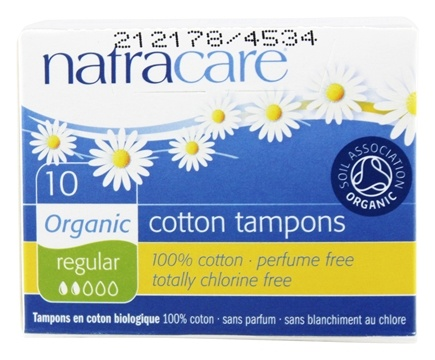 DROPPED: Natracare - Organic 100% Cotton Tampons Regular - 10 Pack(s)