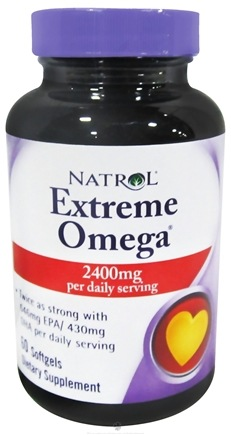 DROPPED: Natrol - Extreme Omega Fish Oil Lemon Flavor - 60 Softgels CLEARANCED PRICED