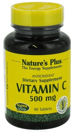 DROPPED: Nature's Plus - Vitamin C with Rose Hips 500 mg. - 90 Tablets CLEARANCE PRICED
