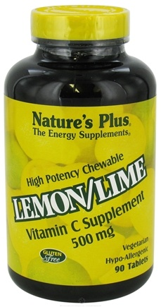 DROPPED: Nature's Plus - Vitamin C Chewable Lemon/Lime 500 mg. - 90 Chewable Tablets CLEARANCE PRICED