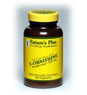 DROPPED: Nature's Plus - L-Ornithine Free Form Amino Acid 500 mg. - 90 Vegetarian Capsules