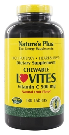DROPPED: Nature's Plus - Lovites Chewable Vitamin C Fruit 500 mg. - 180 Chewable Tablets