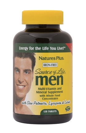 Zoom View - Source of Life Men Iron-Free