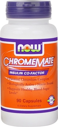 DROPPED: NOW Foods - ChromeMate Insulin Co-Factor - 90 Capsules CLEARANCE PRICED