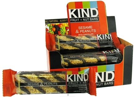 DROPPED: Kind Bar - Fruit and Nut Bar Sesame & Peanut In Chocolate - 1.6 oz.