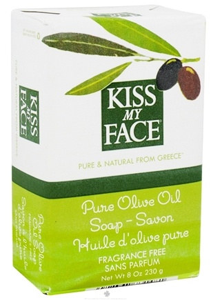Kiss My Face - Pure Olive Oil Bar Soap Fragrance Free - 8 oz.