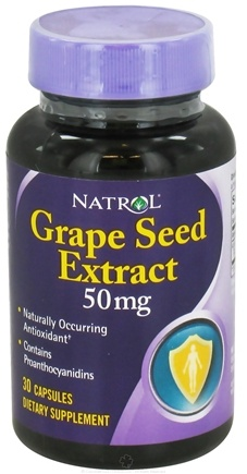 DROPPED: Natrol - Grape Seed Extract 50 mg. - 30 Capsules