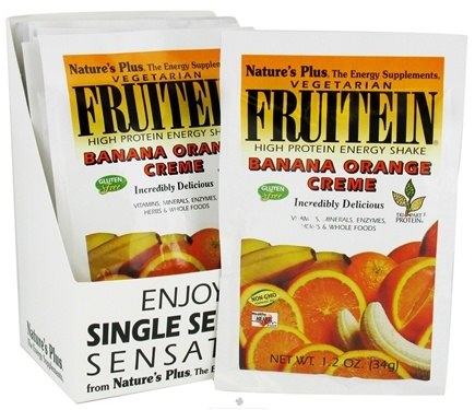 DROPPED: Nature's Plus - Fruitein Vegetarian Shake Banana Orange Creme - 1 Packet CLEARANCE PRICED