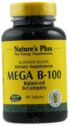 DROPPED: Nature's Plus - Mega B-100 Sustained Release - 90 Tablets CLEARANCE PRICED