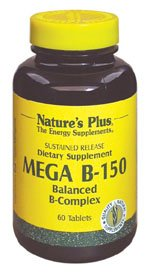DROPPED: Nature's Plus - Mega B-150 Sustained Release - 60 Tablets