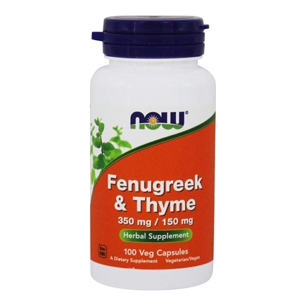 NOW Foods - Fenugreek and Thyme 500 mg. - 100 Capsules