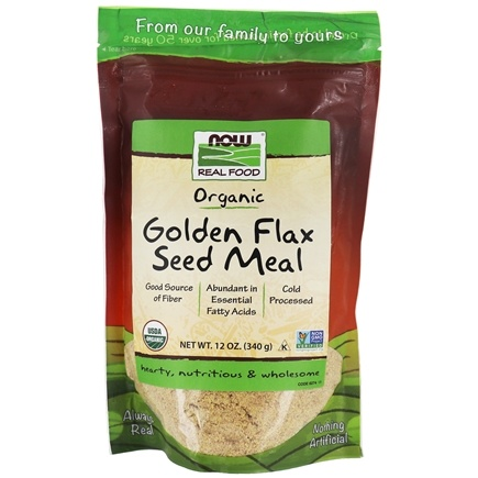 NOW Foods - Golden Flax Seed Meal Organic - 12 oz.