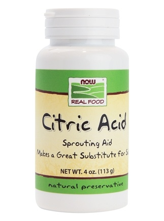 NOW Foods - Citric Acid 100% Pure - 4 oz.