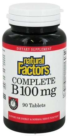 DROPPED: Natural Factors - Complete B Time Release 100 mg. - 90 Tablets CLEARANCE PRICED