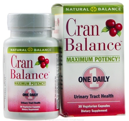 DROPPED: Natural Balance - CranBalance - 30 Capsules Formely Cran Max- CLEARANCE PRICED