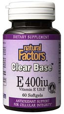 DROPPED: Natural Factors - Clear Base Vitamin E 800 IU - 60 Softgels