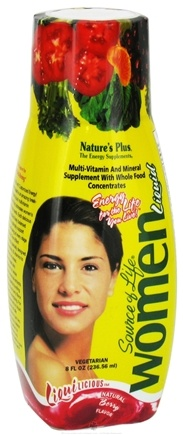 DROPPED: Nature's Plus - Source of Life Multi Vitamin & Mineral Women - 8 oz. CLEARANCE PRICED