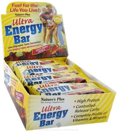 DROPPED: Nature's Plus - Ultra Energy Bar Exotic Berry Crunch - 2.1 oz.