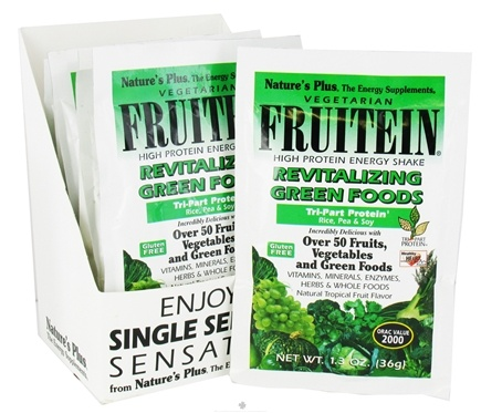 DROPPED: Nature's Plus - Fruitein Shake Packets Revitalizing Green Foods - 1 Packet