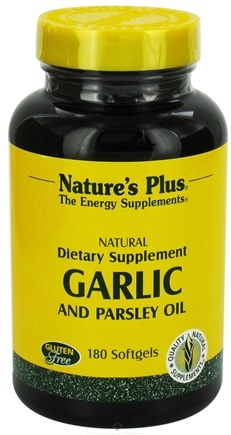 DROPPED: Nature's Plus - Garlic & Parsley Oil Softgels - 180 Softgels CLEARANCE PRICED