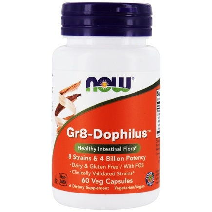 NOW Foods - Gr 8 Dophilus - Enteric Coated - 60 Vegetarian Capsules