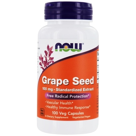 NOW Foods - Grape Seed Anti-Oxidant 100 mg. - 100 Vegetarian Capsules