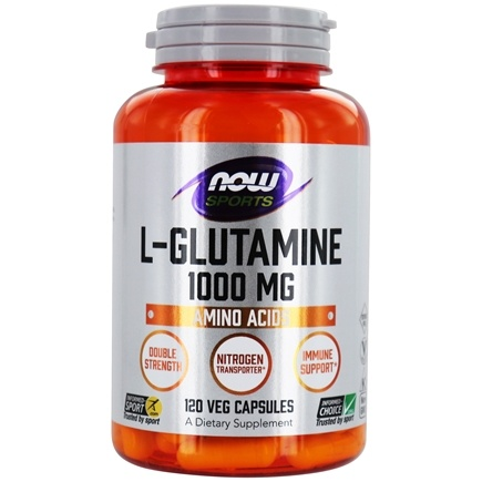 NOW Foods - L-Glutamine Double Strength 1000 mg. - 120 Capsules