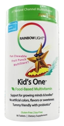 Rainbow Light - Kids' One MultiStars Multivitamin Fruit Punch - 90 Chewable Tablets