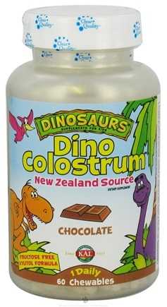 DROPPED: Kal - Dinosaurs Dino Colostrum For Kids Chocolate - 60 Chewable Tablets