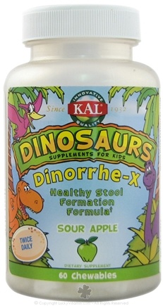 DROPPED: Kal - Dinorrhe-X for Children Sour Apple Flavor - 60 Chewable Tablets