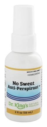 DROPPED: King Bio - Homeopathic Natural Medicine No Sweat Anti-Perspirant - 2 oz.