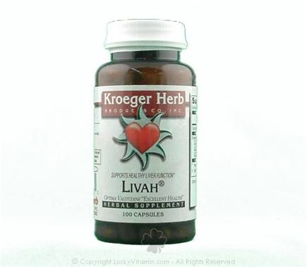DROPPED: Kroeger Herbs - Livah - 100 Capsules