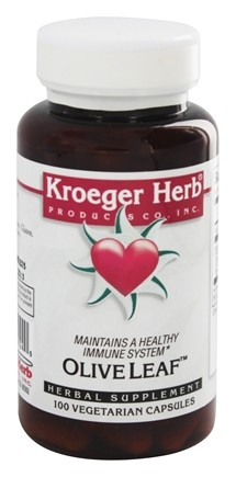 Kroeger Herbs - Herbal Combinations Olive Leaf - 100 Vegetarian Capsules