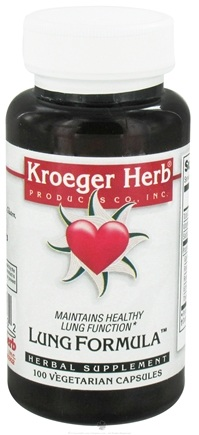 DROPPED: Kroeger Herbs - Lung Formula - 100 Vegetarian Capsules formerly Sound Breath CLEARANCE PRICED