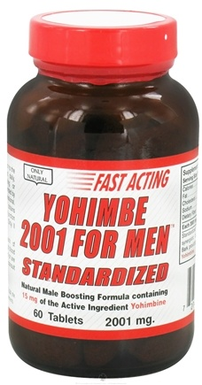 DROPPED: Only Natural - Yohimbe 2001 for Men - 60 Tablets