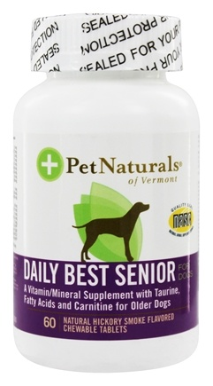 DROPPED: Pet Naturals of Vermont - Daily Best Senior Dog Natural Hickory Smoke Flavored - 60 Chewable Tablets