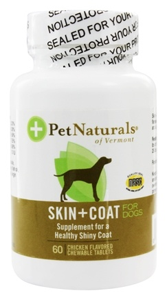 DROPPED: Pet Naturals of Vermont - Skin & Coat Support For Dogs Chicken Flavored Tablets - 60 Tablets