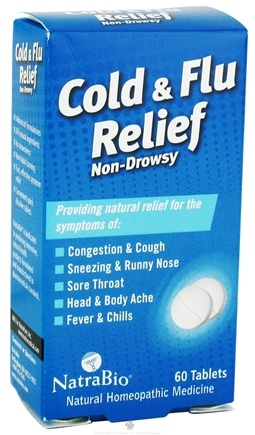 DROPPED: NatraBio - Cold & Flu Relief - 60 Tablets