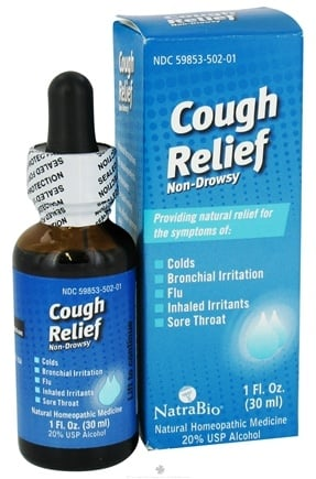 DROPPED: NatraBio - Cough Relief - 1 oz. CLEARANCE PRICED