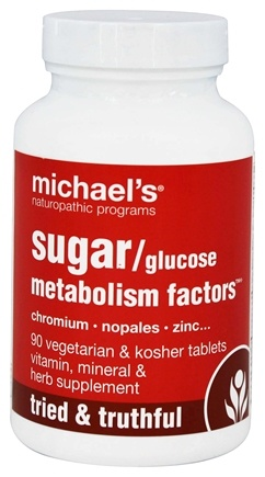 DROPPED: Michael's Naturopathic Programs - Glucose Sugar Metabolism Factors - 90 Vegetarian Tablets