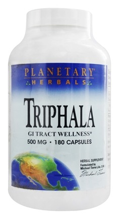 Planetary Herbals - Triphala Traditional Ayurvedic Compound 500 mg. - 180 Capsules Formerly Planetary Formulas