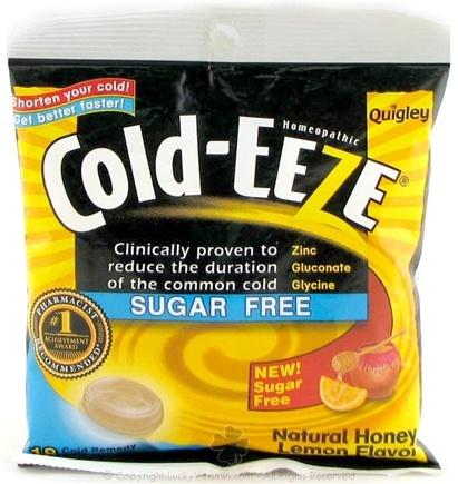 DROPPED: Cold-Eeze - Lozenges Sugar Free Natural Honey Lemon Flavor - 18 Lozenges Formerly by Quigley CLEARANCE PRICED